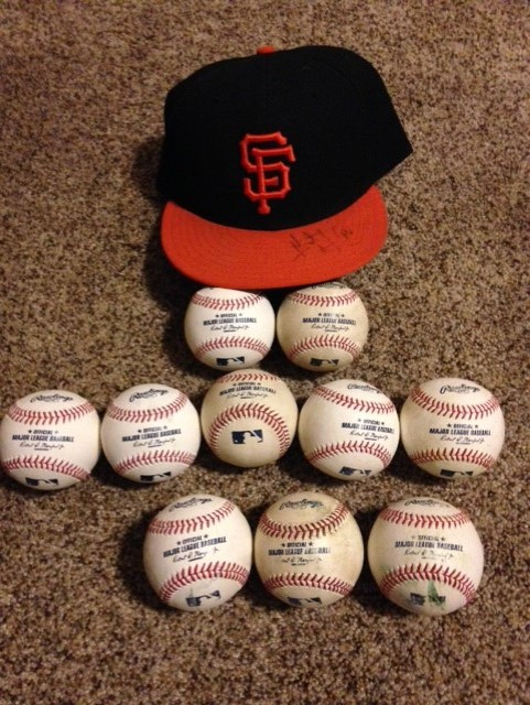 giants hat and balls